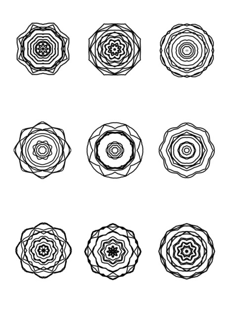 Mini Mandalas for coloring