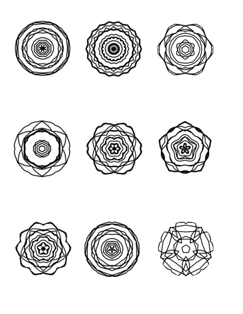 Mini mandalas for coloring page 2
