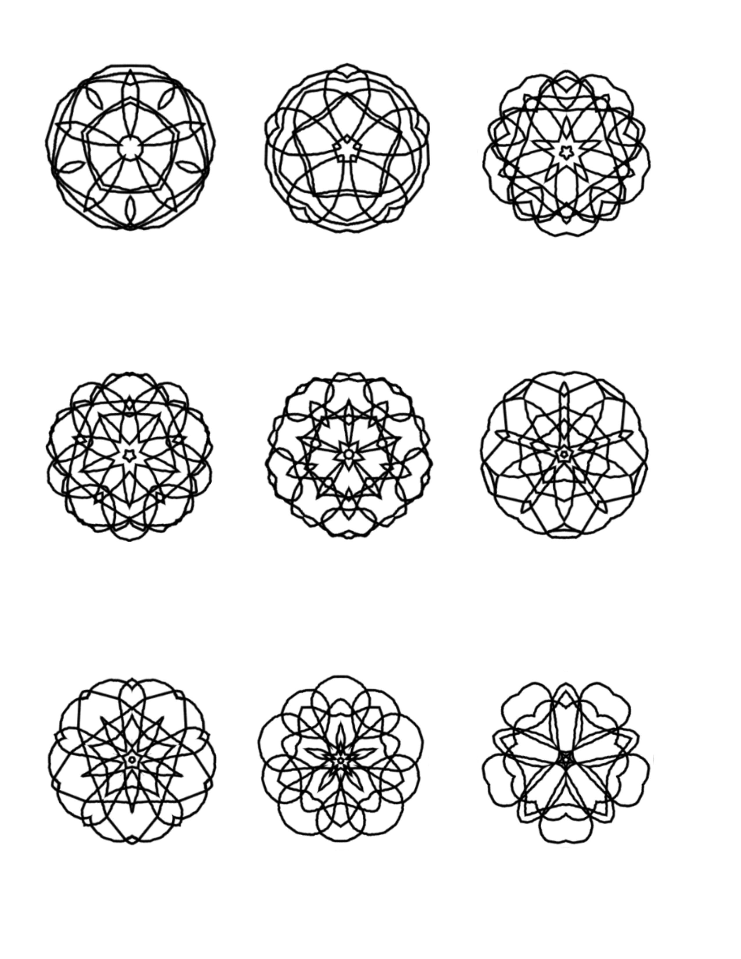 More Mini Mandalas To Color Ilahs Blog About